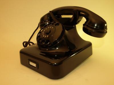 Tischfernsprecher W48 schwarz